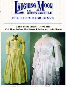 Laughing Moon #114 - Ladies' Round Victorian Dresses Sewing Pattern