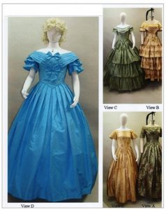 Laughing Moon  117 - Ladies  Victorian Ball Gowns - Sewing Pattern. ab155ed7ba33