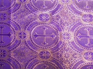 Metallic Church Brocade Purple-Gold