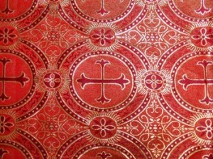 Wholesale Metallic Church Brocade - Red- Gold 25 yards ***Temporarily out of Stock***