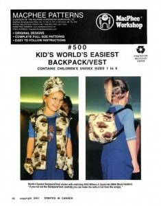 MacPhee #500 - Kid's Worlds Easiest Backpack/Vest