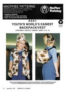 MacPhee #501 - Youth's World's Easiest Backpack/Vest - Youth