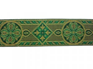 Trim - Royal Brocade - Green and Gold