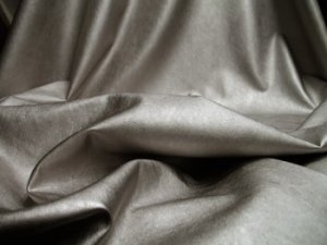 Faux Leather Ultra Fabric #33836 - Platinum #6 (Silver/Oyster)