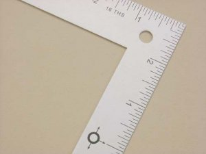 "Lance Mini L Square Ruler 12"" x 6"""