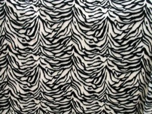 Wholesale Minky Animal Print Fur Fabric - Zebra - 12 yards