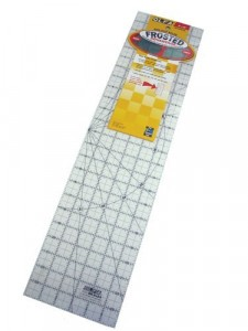 "Olfa- Frosted Non Slip Rectangular Ruler with Grid-6""x24"""