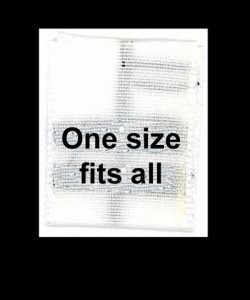 Wholesale Clothing Labels - One Size Fits All,     1,000