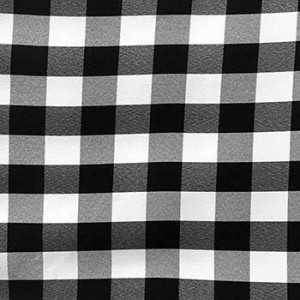 Wholesale Poplin Gingham - Black Cafe Check - Picnic Cloth - 25 yards