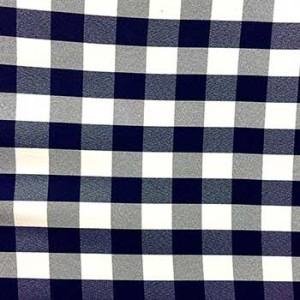 Wholesale Poplin Gingham - Navy Cafe Check - Picnic Cloth - 25 yards