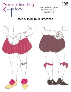 Reconstructing History Pattern #RH206 - Men's 1570-1600 Breeches or Trunkhose