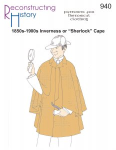 Reconstructing History Pattern #RH940 - Inverness Coat or Sherlock Cape