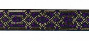 Trims - Elizabethan Collection - Black, Purple, Gold