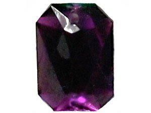 Wholesale Acrylic Jewels - Amethyst Sew-In Gemstones - Emerald Cut, 13x18mm - 144 jewels
