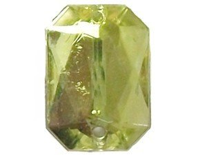 Wholesale Acrylic Jewels - Jonquil Sew-In Gemstones - Emerald Cut, 13x18mm - 144 jewels