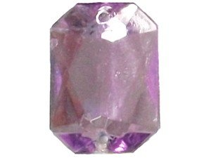 Wholesale Acrylic Jewels - Light Amethyst Sew-In Gemstones - Emerald Cut, 13x18mm - 144 jewels
