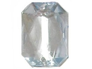 Wholesale Acrylic Jewels - Light Blue Sew-In Gemstones - Emerald Cut, 13x18mm - 144 jewels