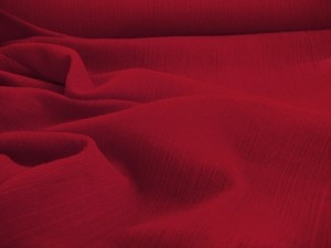 Cotton Gauze Fabric - Red #626