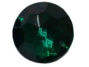 Wholesale Acrylic Jewels - Emerald Sew-In Gemstone - Medium Round, 14mm - 1 Gross, 144 jewels