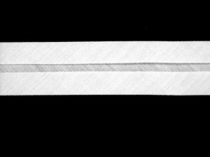Wrights Wide Single Fold Bias Tape- White 30
