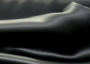 Silk Charmeuse Fabric - Black