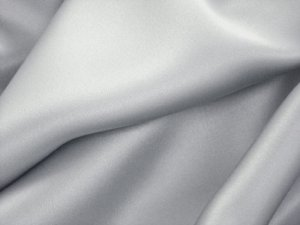 Silk Charmeuse Fabric Silver
