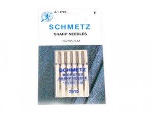 Schmetz Microtex Needles #1729 -  Size 70/10