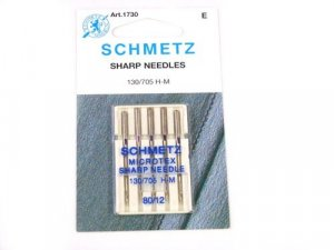 Schmetz Microtex Needles #1730 - Size 80/12