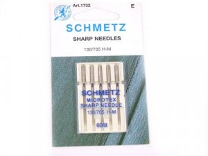 Schmetz Microtex Needles #1732 - Size 60/8