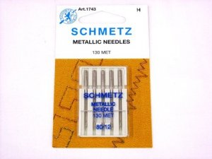 Schmetz Metallic Needles, size 80/12