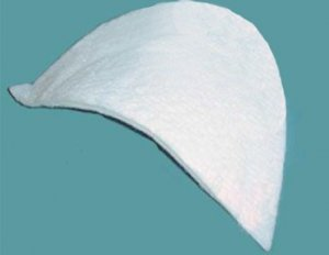 "Shoulder Pad #1043 - 1/4"" Uncovered Set-in pad - White"