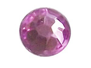Wholesale Acrylic Jewels - Light Amethyst Glue-On Gemstone - Size 30 Round, 6mm - 144 jewels, 1 gross