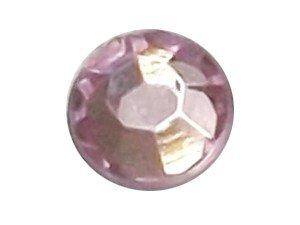 Wholesale Acrylic Jewels - Light Rose Glue-On Gemstone - Size 30 Round, 6mm - 144 jewels, 1 gross