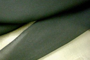 Silk Chiffon Fabric - Black
