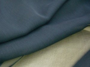 Silk Chiffon Fabric - Dark Navy