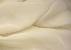 Silk Chiffon Fabric - Light Beige