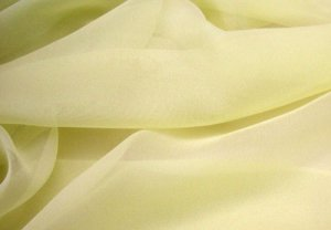 Wholesale Silk Chiffon - Light Yellow Green 15 yards