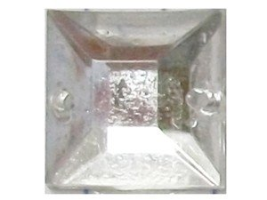 Wholesale Acrylic Jewels - Crystal Sew-In Gemstone - Square, 12mm - 1 gross, 144 jewels