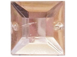 Wholesale Acrylic Jewels - Light Peach Sew-In Gemstone - Square, 12mm - 1 gross, 144 jewels