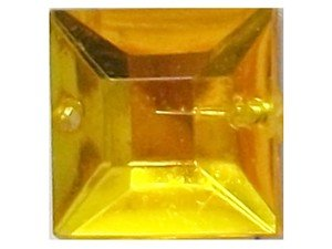 Wholesale Acrylic Jewels - Topaz Sew-In Gemstone - Square, 12mm - 1 gross, 144 jewels