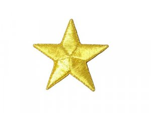 "Applique - Star - 2""  Gold Metallic"