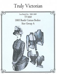 Truly Victorian  462A - 1883 Tail Bodice - Historical Sewing Pattern d592e88f8