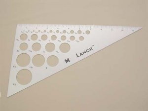 Lance Triangle Ruler 12""