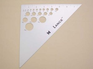 Lance Triangle Ruler 6""