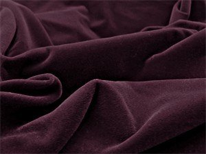 Triple Velvet Fabric - Burgundy