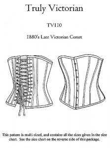 Truly Victorian #110 - 1880's Late Victorian Corset Sewing Pattern