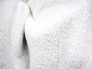 Wholesale- Turkish Spa Terry Velour - 12 oz., White 12yds