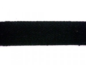 "Twill Tape - 3/4"" Cotton Black"
