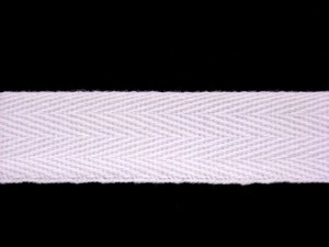 "Wholesale Twill Tape - 3/4"" Cotton White, 100 yds"