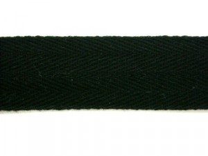 "Twill Tape - 1"" Cotton Black"